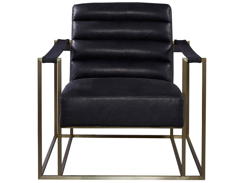Jensen Accent Chair - Black Leather