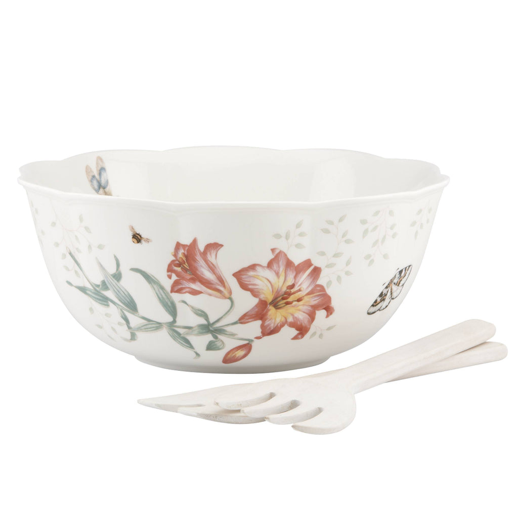 Butterfly Meadow Salad Bowl 3 Piece Set