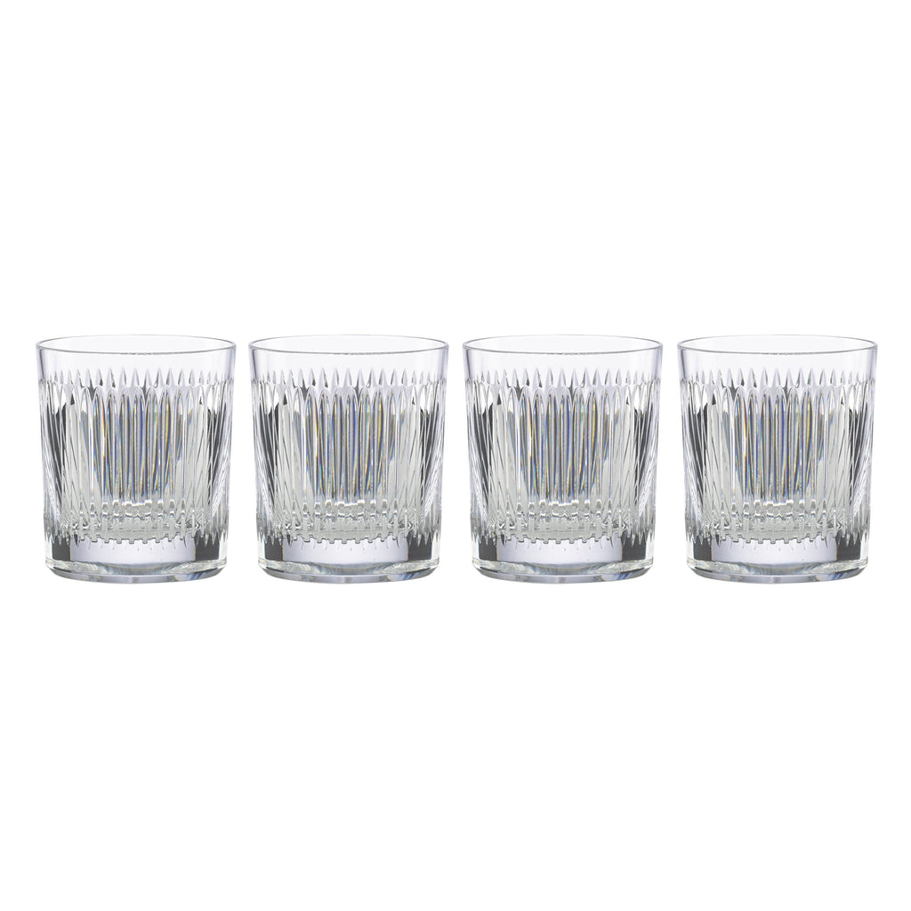 New Vintage Hanson Double Old Fashioned Glass Set of 4