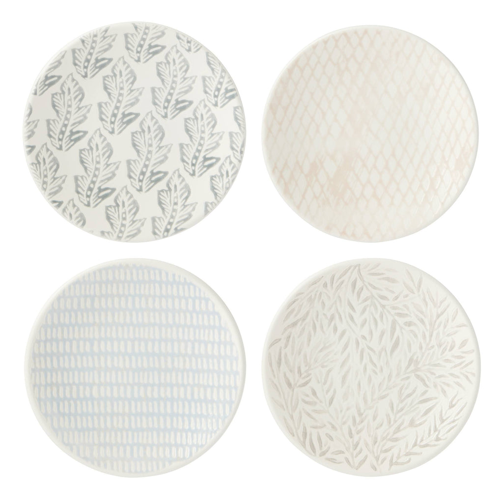 Textured Neutrals Tidbit Plates Set of 4
