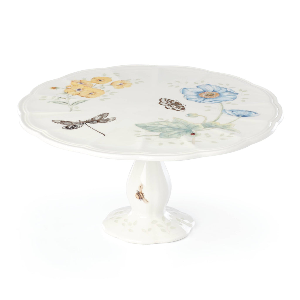 Butterfly Meadow 20th Anniversary Pedestal Cake Plate