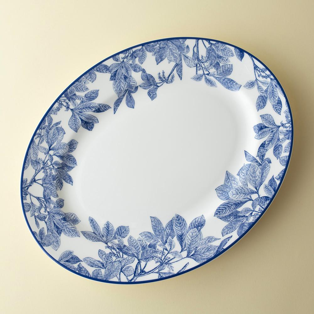 ARBOR BLUE LARGE OVAL PLATTER