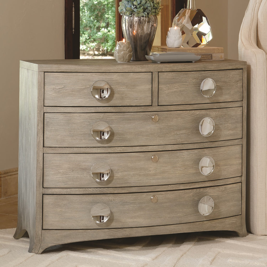 Bow Front 5 Drawer Dresser