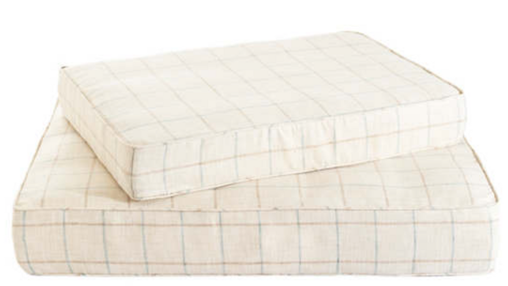 Chatham Tattersall Natural/Grey Dog Bed