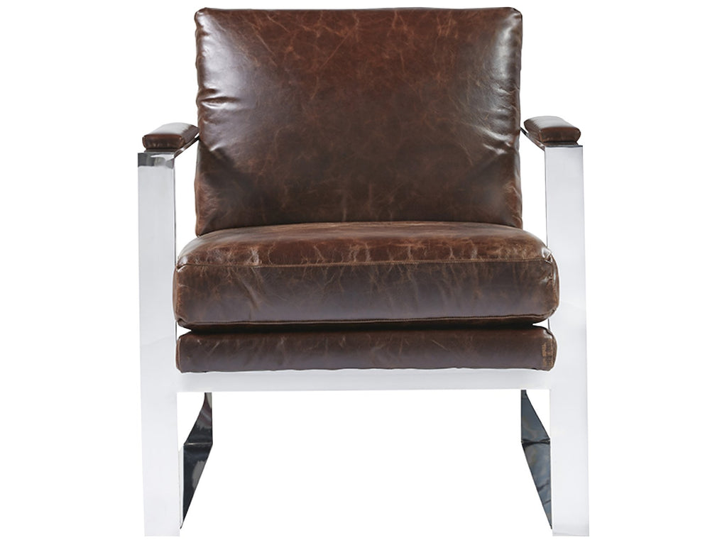 Corbin Accent Chair - Brown Leather