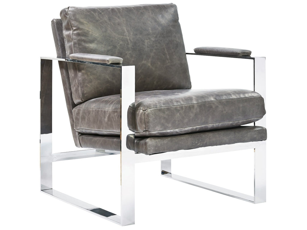 Corbin Accent Chair - Grey Leather