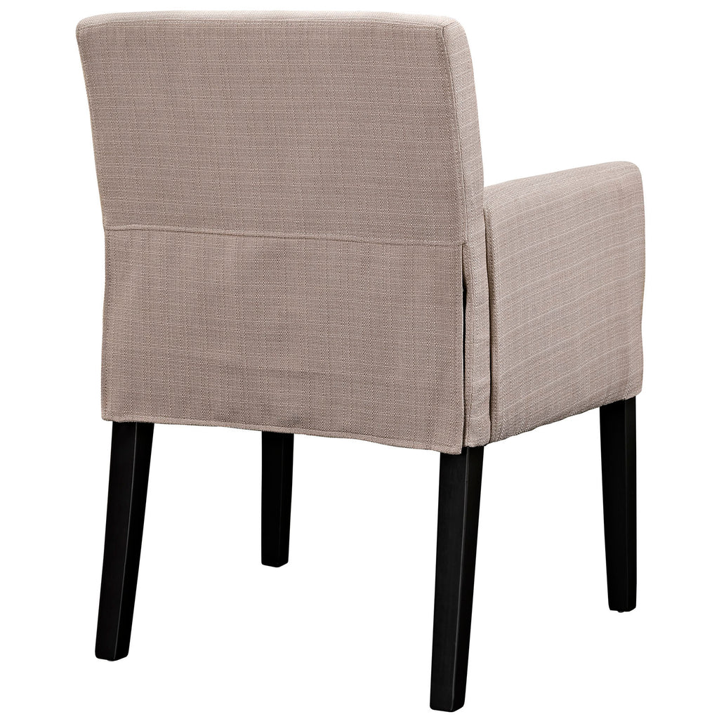 Chloe Upholstered Fabric Armchair in Beige