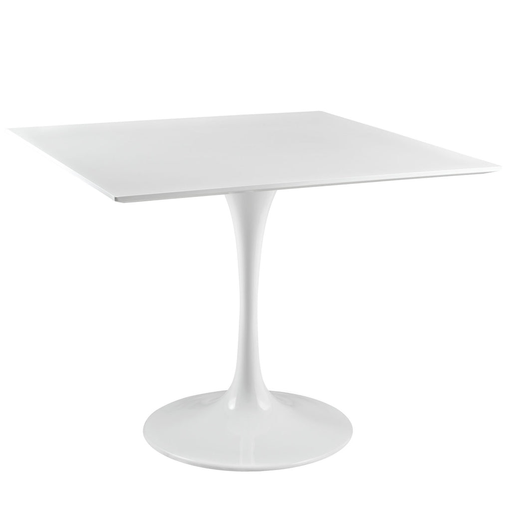 "Lippa 36"" Square Wood Top Dining Table in White"