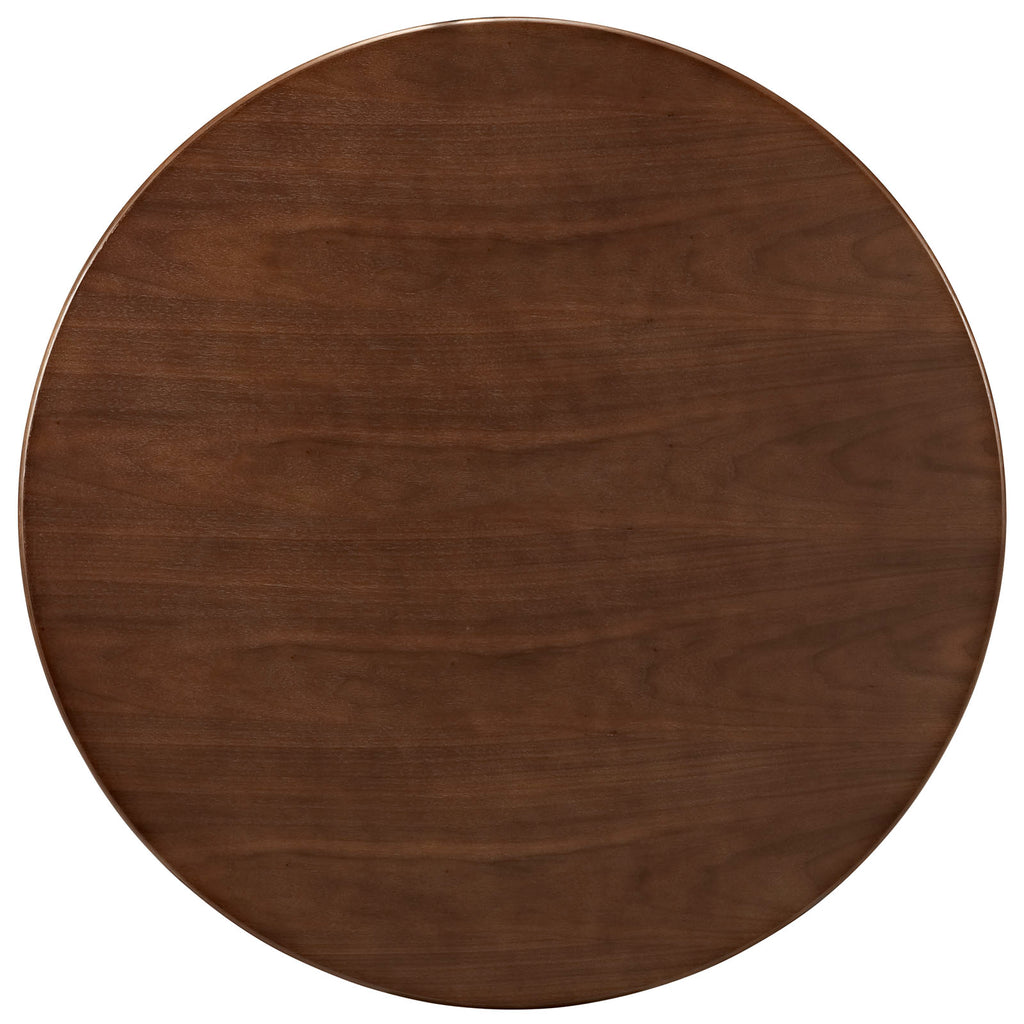"Lippa 36"" Round Walnut Dining Table in Walnut"