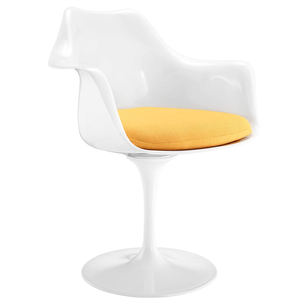 Lippa Dining Fabric Armchair in Yellow