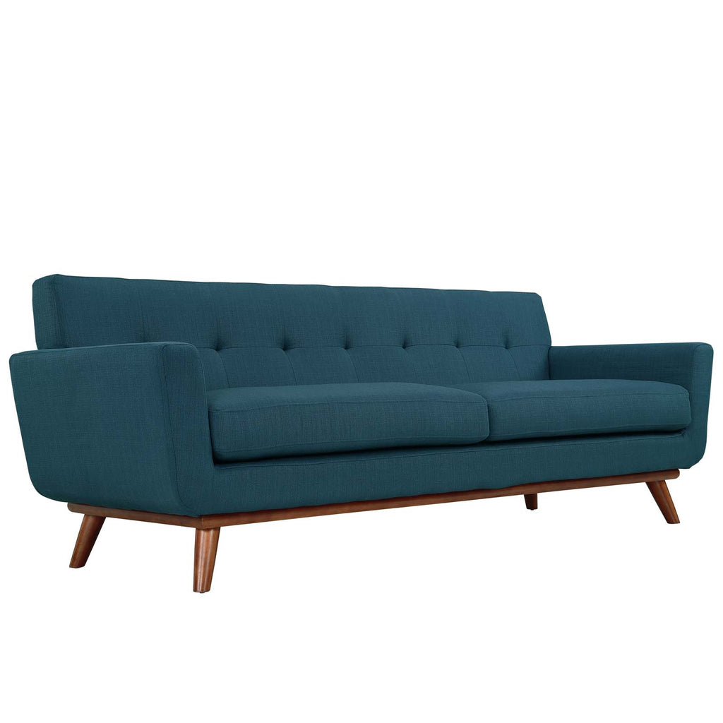 Engage Upholstered Fabric Sofa in Azure