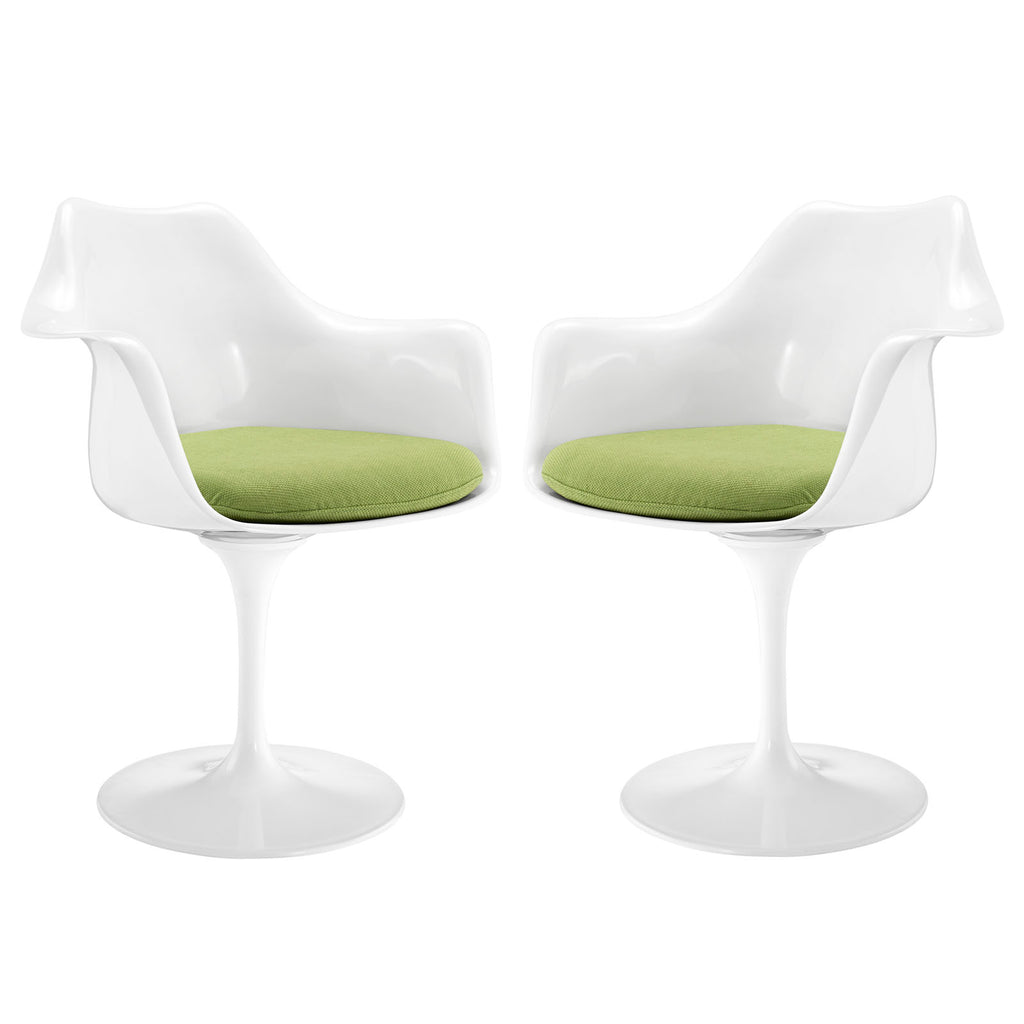 Lippa Dining Armchair Set of 2 in Green
