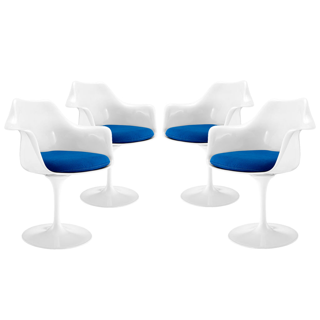 Lippa Dining Armchair Set of 4 in Blue