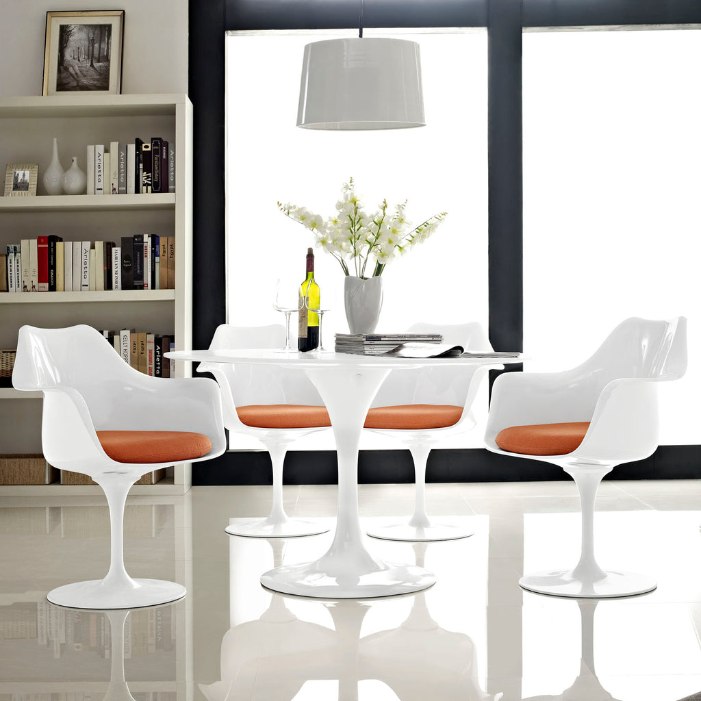 Lippa Dining Armchair Set of 4 in Orange