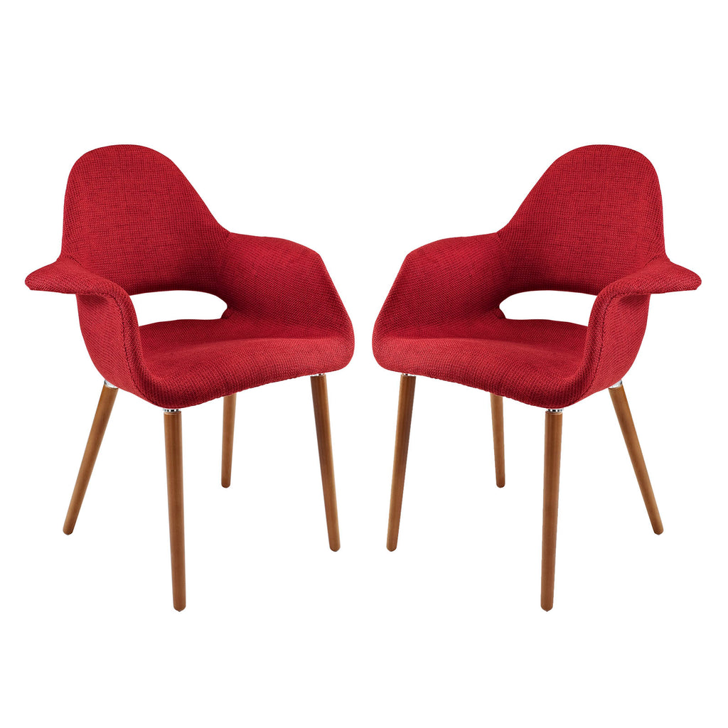 Aegis Dining Armchair Set of 2 in Red