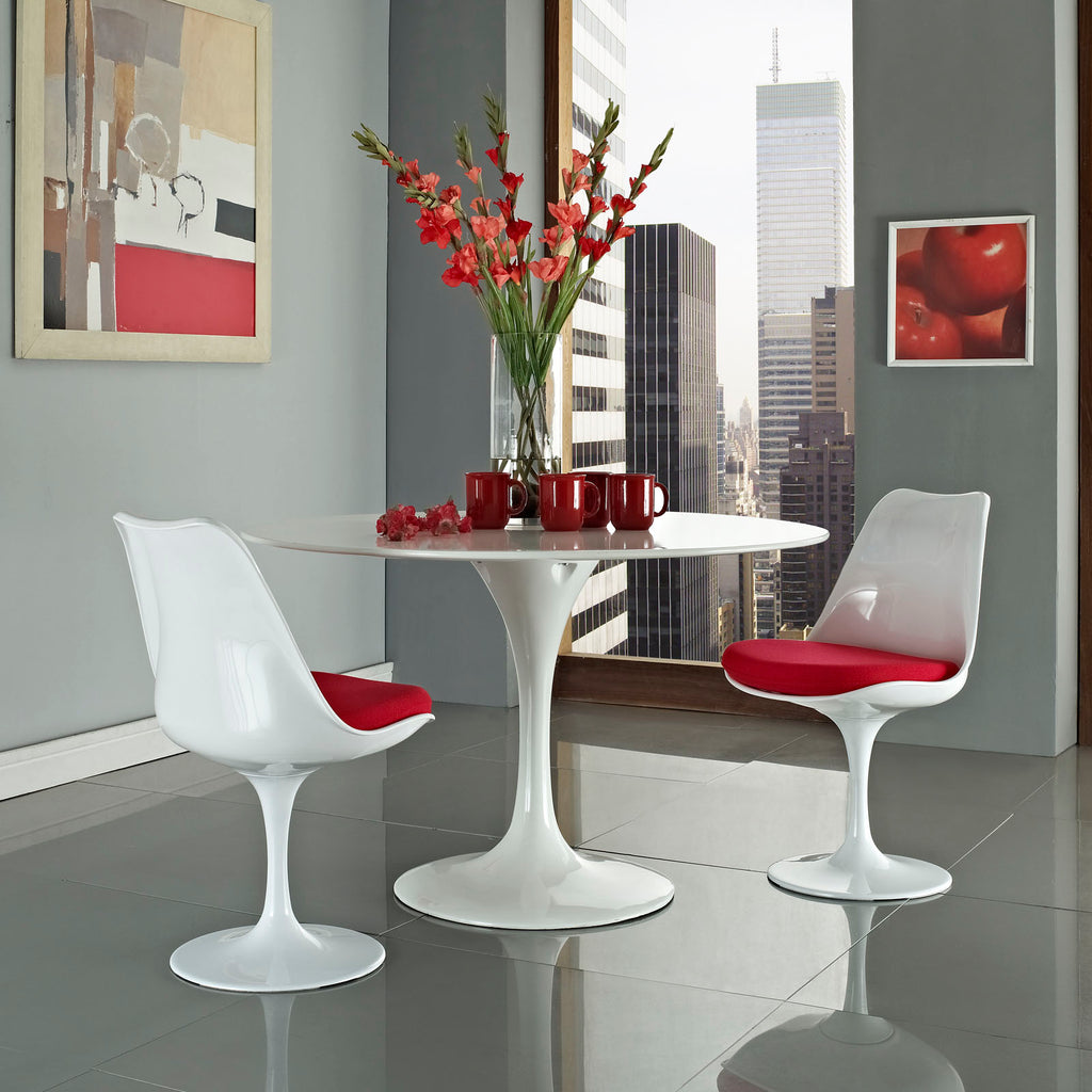 Lippa Dining Side Chair Set of 2 in Red