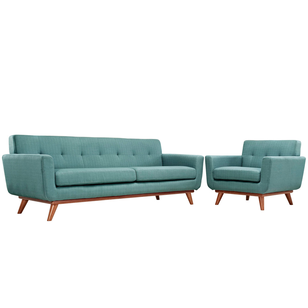 Engage Armchair and Sofa Set of 2 in Laguna