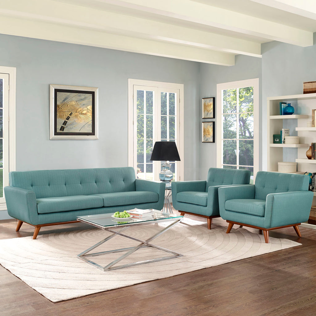 Engage Armchairs and Sofa Set of 3 in Laguna
