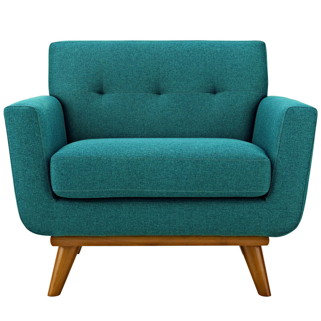 Engage Armchairs and Sofa Set of 3 in Teal