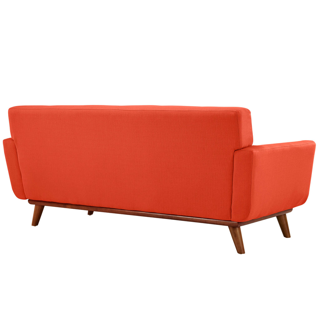 Engage Armchair and Loveseat Set of 2 in Atomic Red
