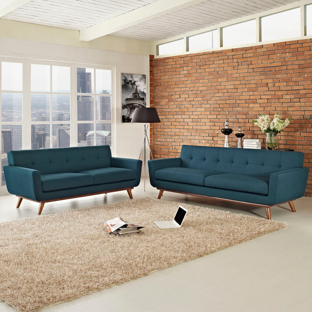 Engage Loveseat and Sofa Set of 2 in Azure