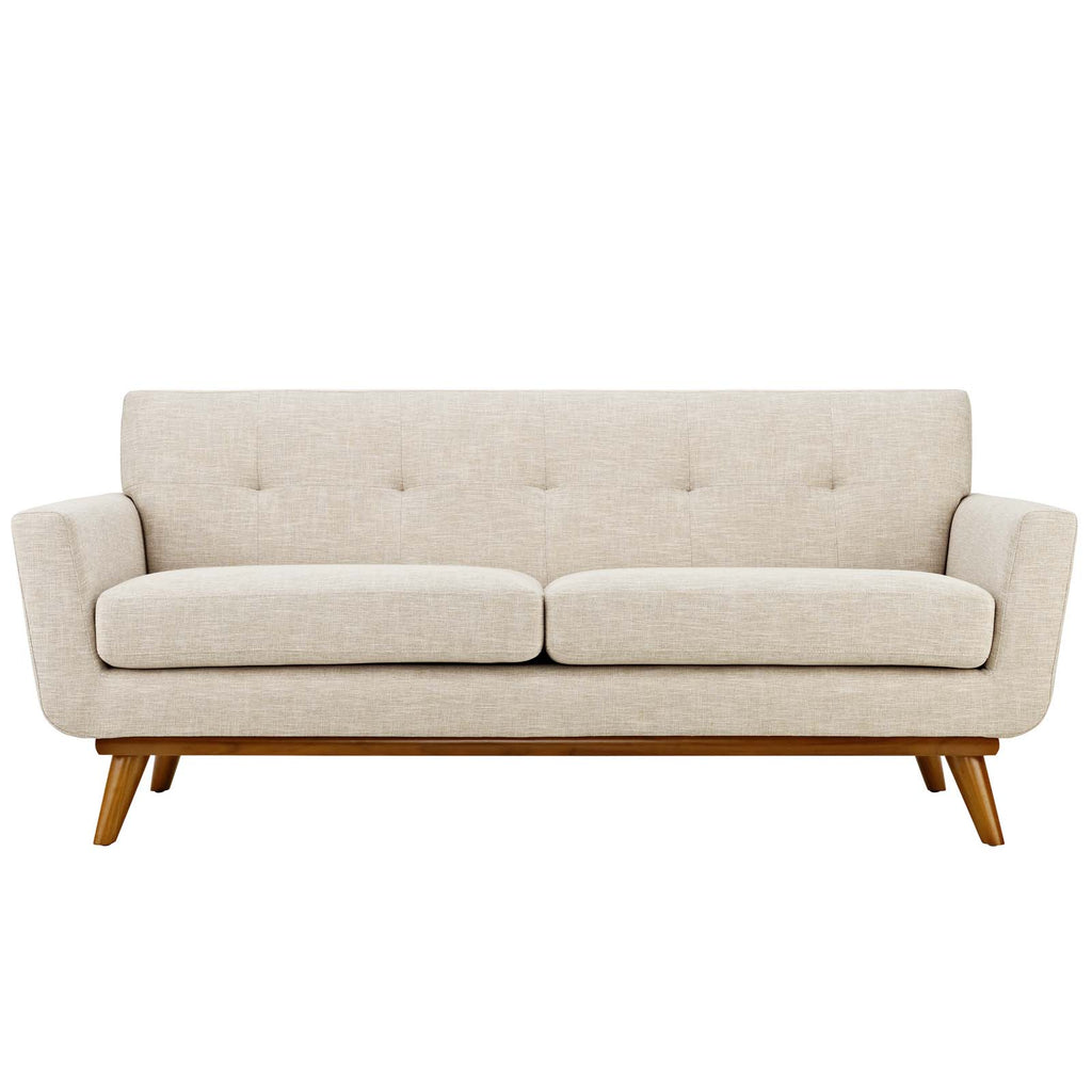 Engage Sofa Loveseat and Armchair Set of 3 in Beige