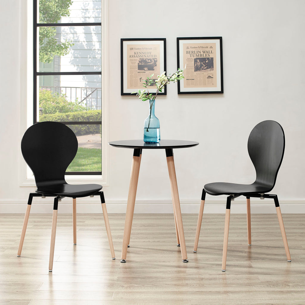 Path Dining Chair Set of 2 in Black