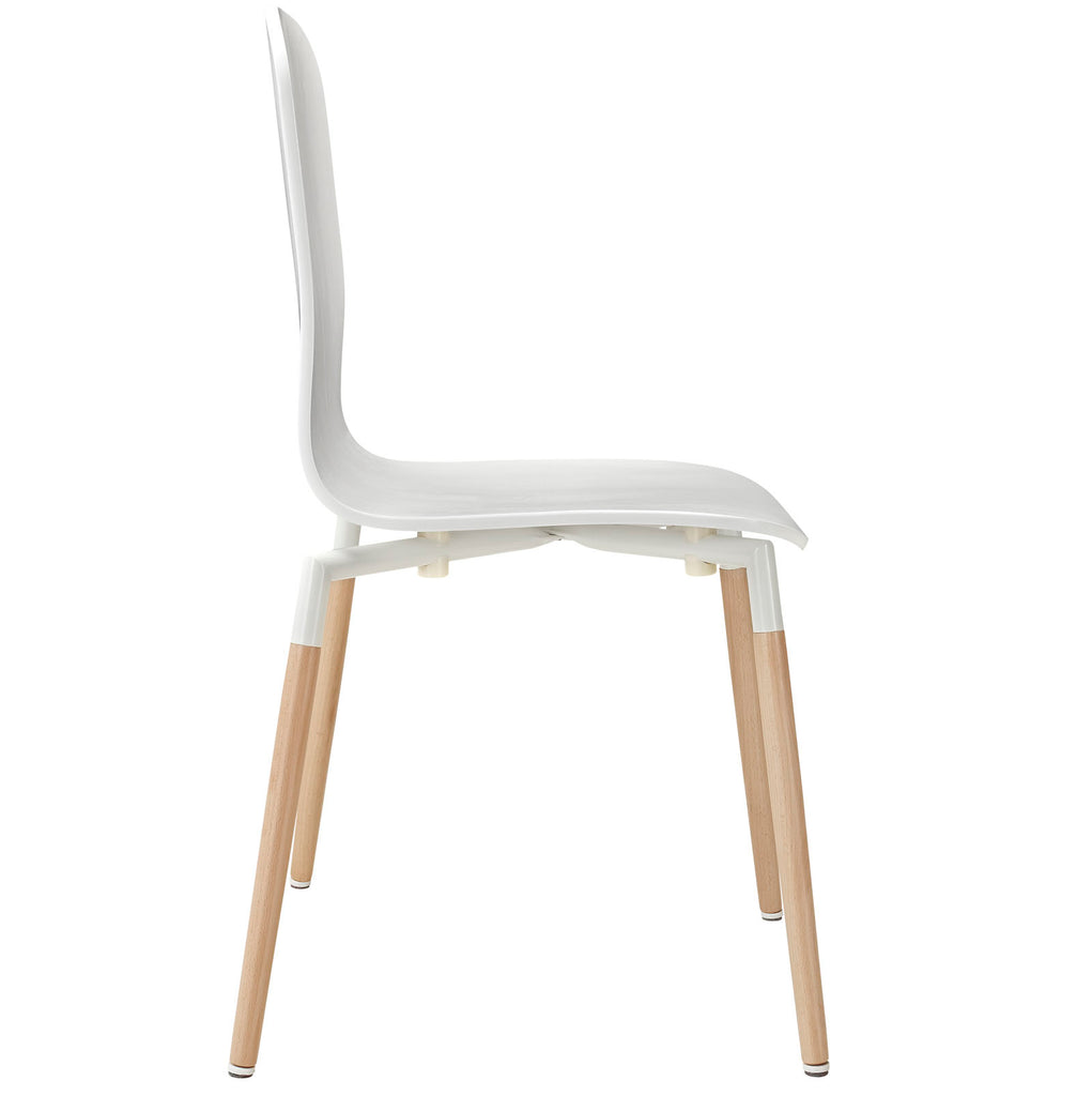 Stack Dining Chairs Wood Set of 4