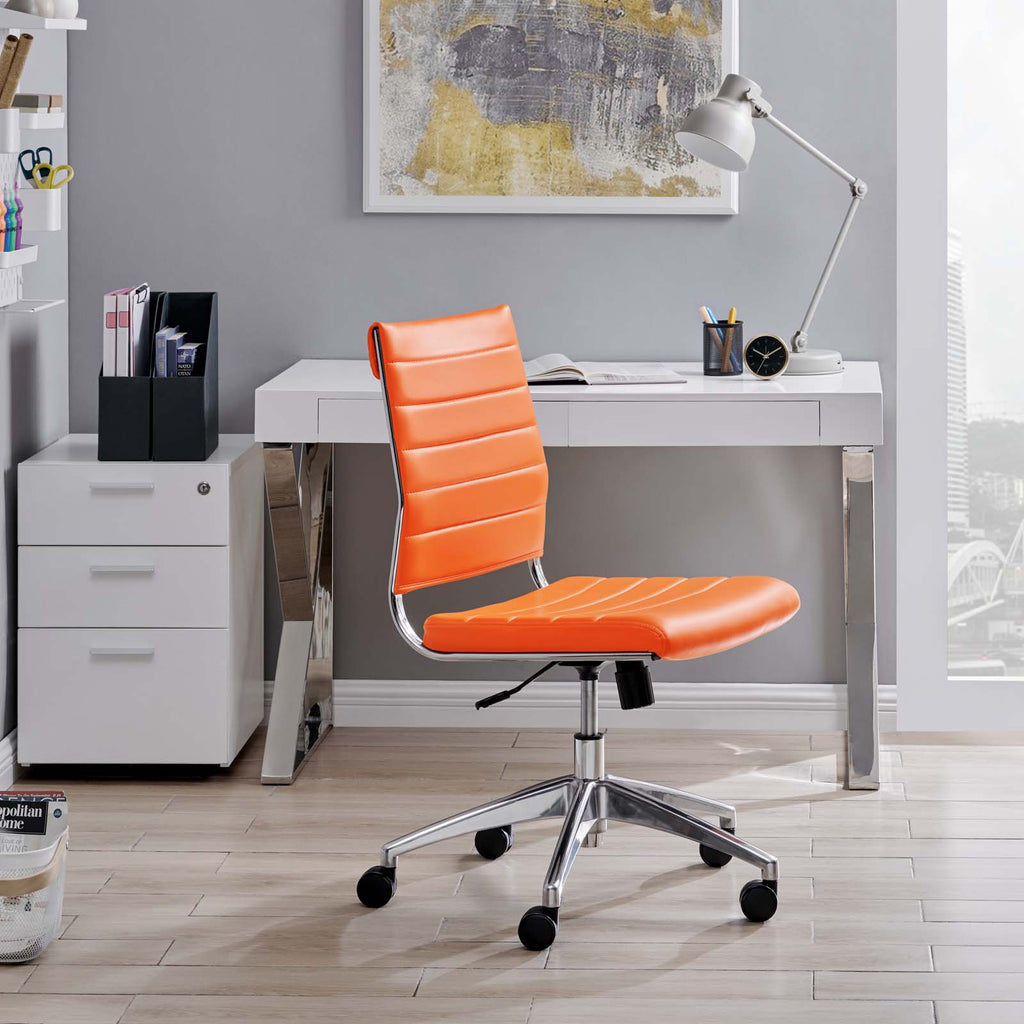 Jive Armless Mid Back Office Chair in Orange