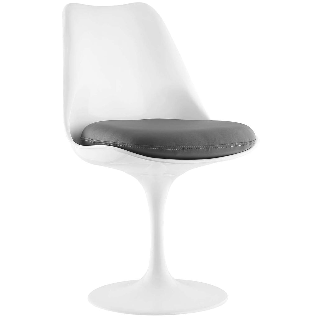 Lippa Dining Vinyl Side Chair in Gray