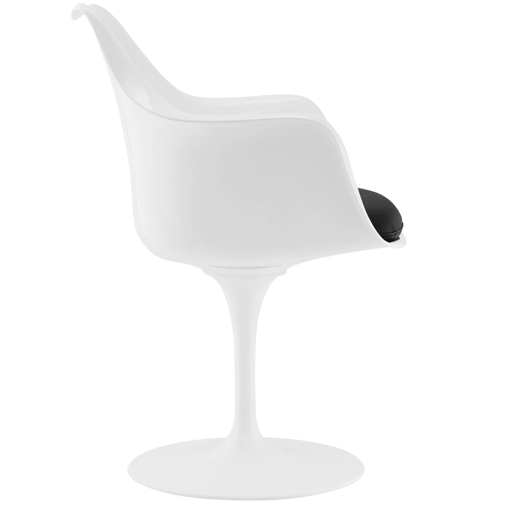 Lippa Dining Vinyl Armchair in Black