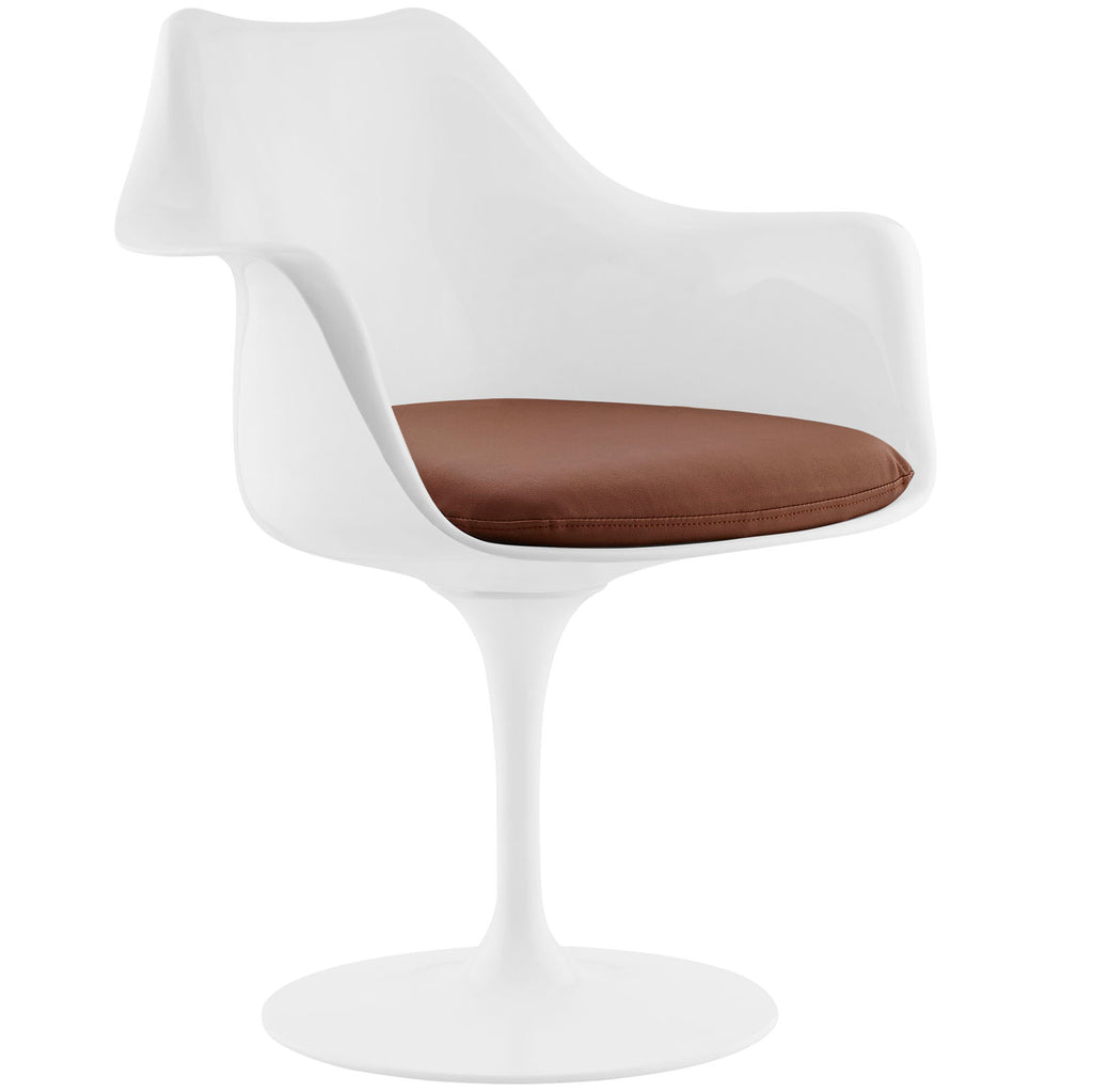 Lippa Dining Vinyl Armchair in Tan