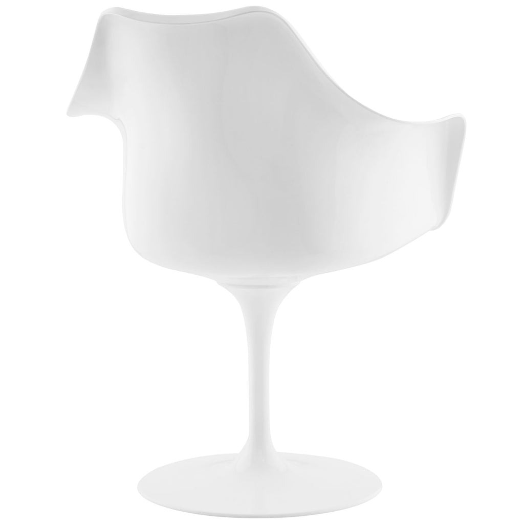 Lippa Dining Vinyl Armchair in White