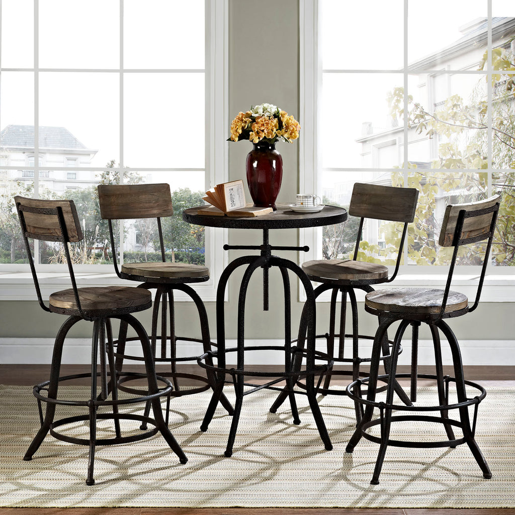 Procure Bar Stool Set of 4 in Brown