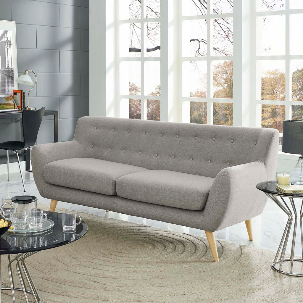Remark Upholstered Fabric Sofa in Light Gray