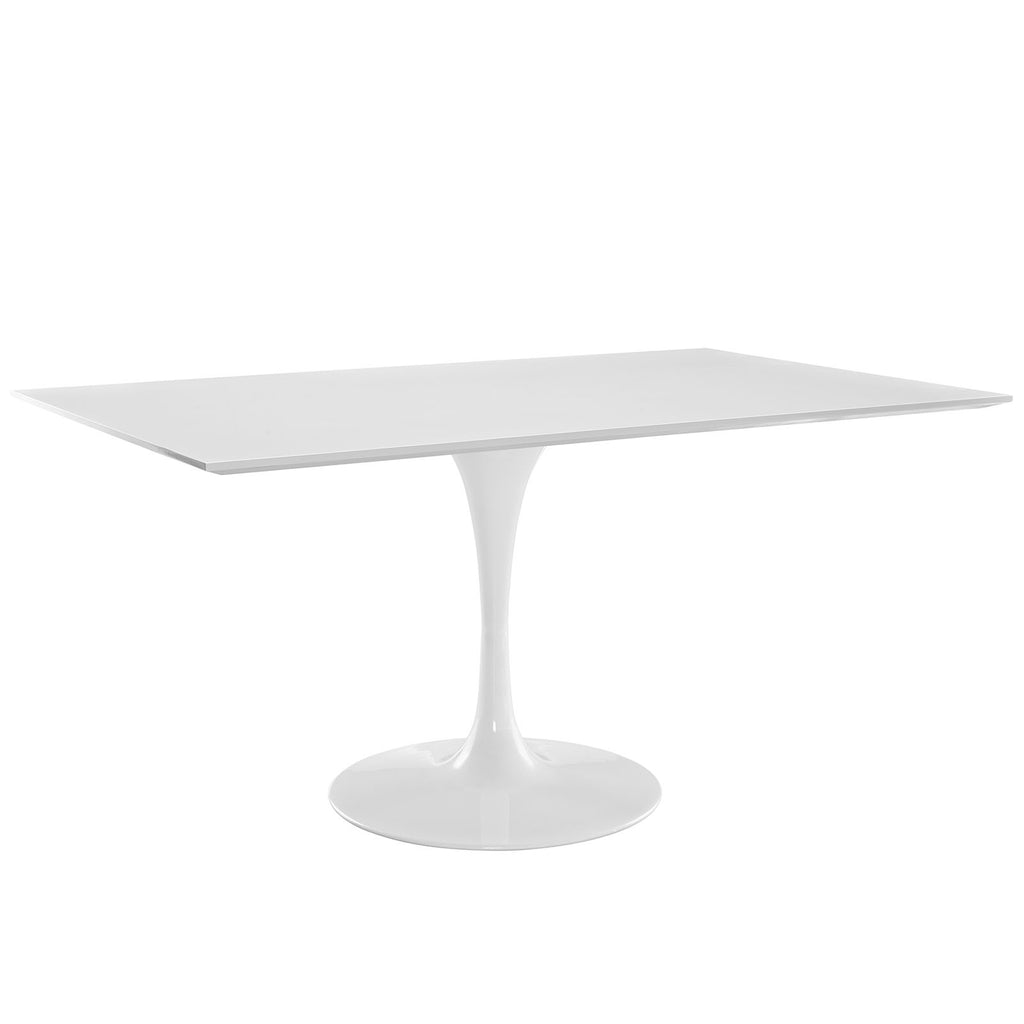 "Lippa 60"" Rectangle Wood Dining Table in White"