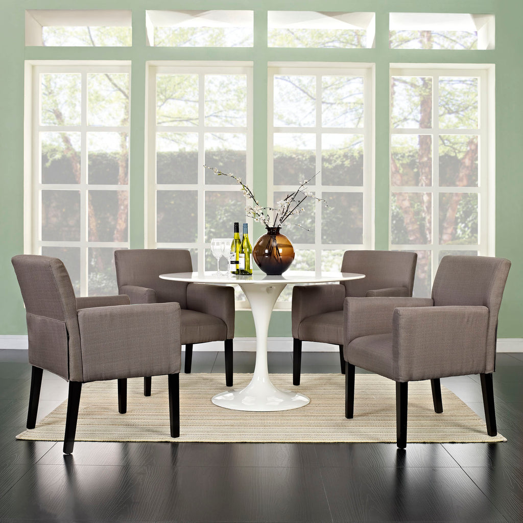 Chloe Armchair Set of 4 in Gray