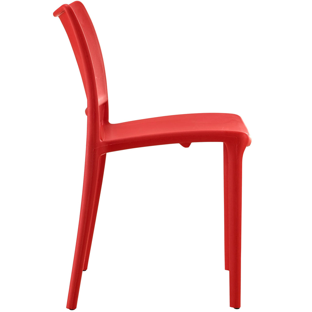 Hipster Dining Side Chair in Red