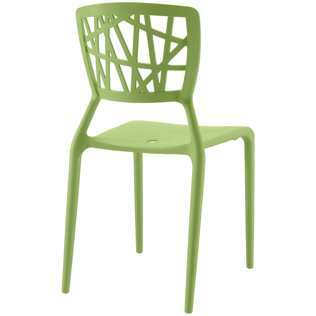 Astro Dining Side Chair in Green