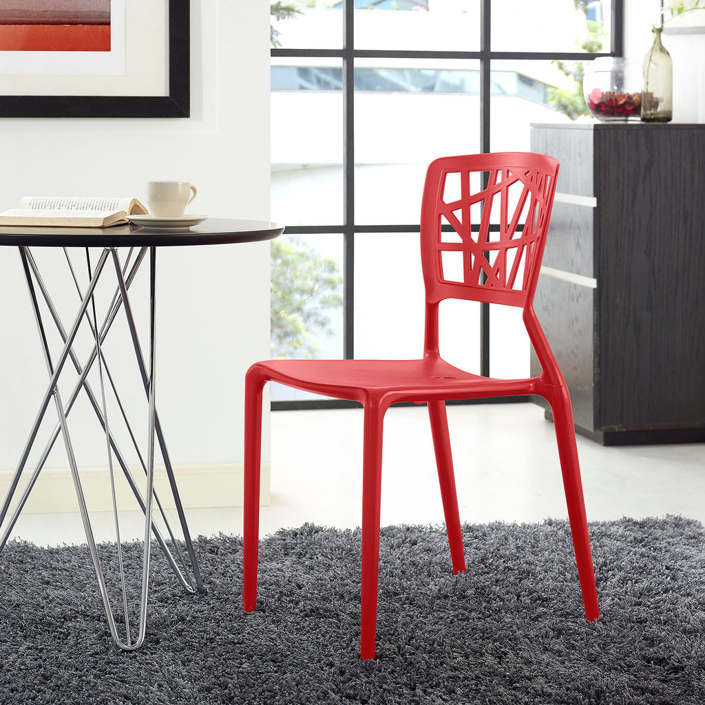 Astro Dining Side Chair in Red