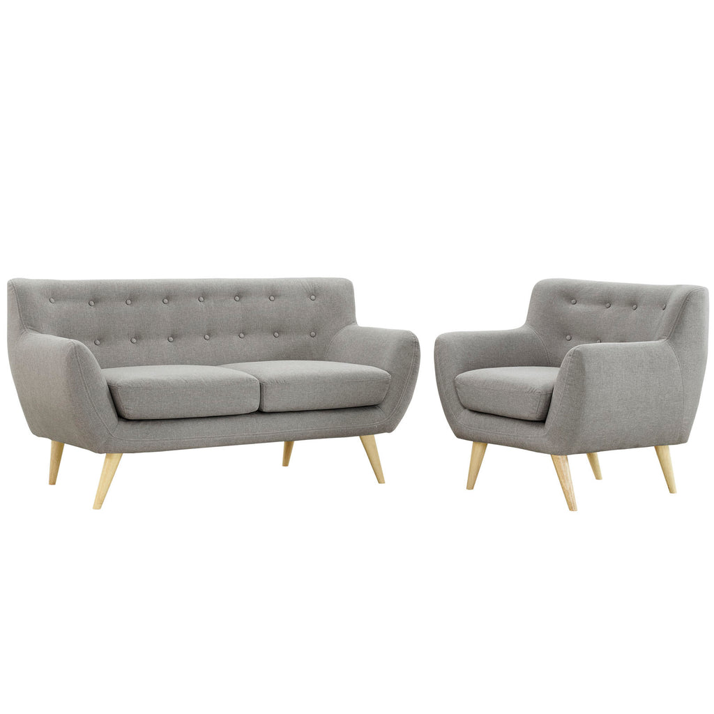 Remark 2 Piece Living Room Set in Light Gray
