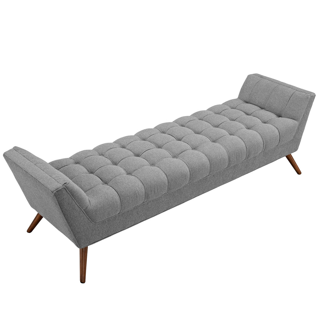 Response Upholstered Fabric Bench in Expectation Gray