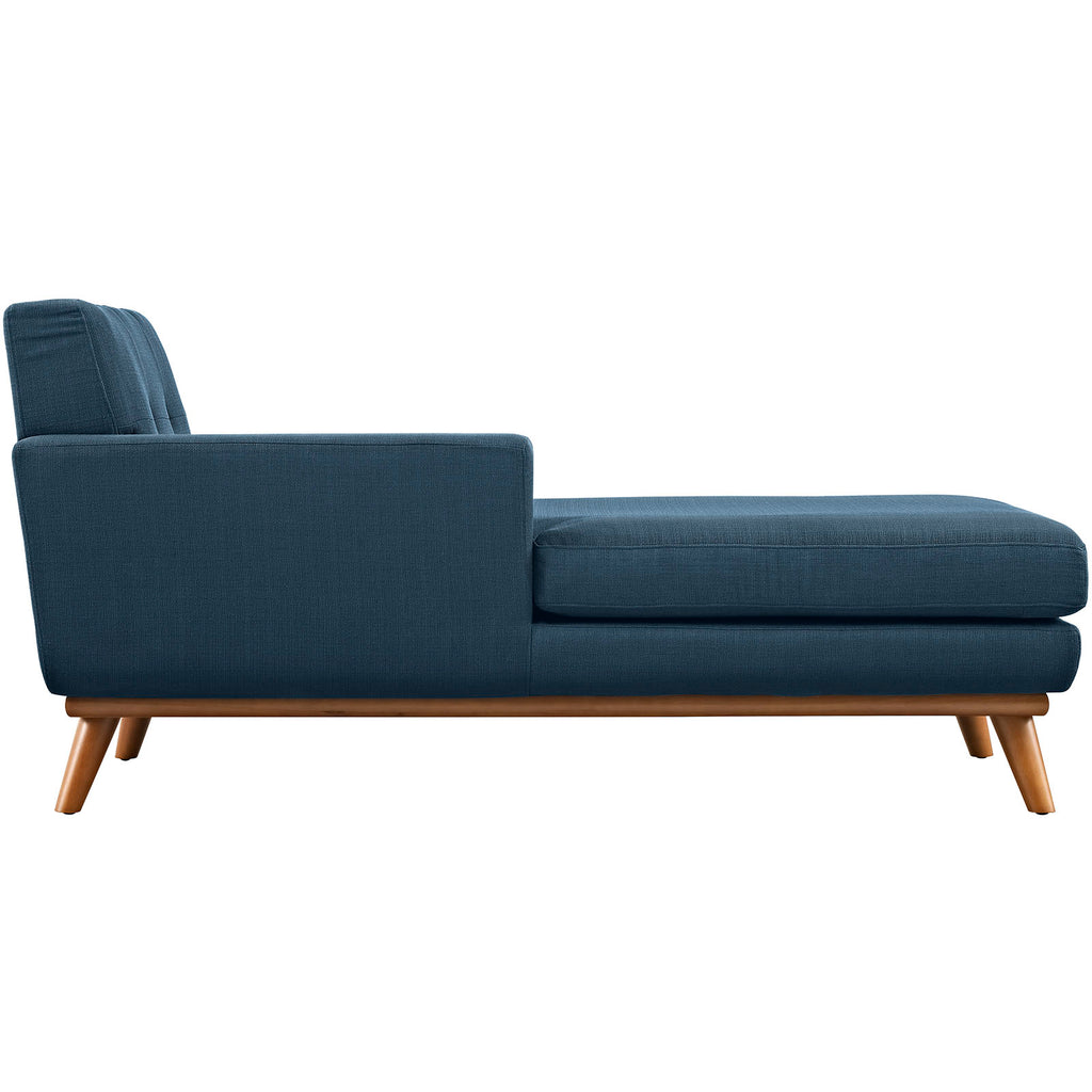 Engage Left-Facing Upholstered Fabric Chaise in Azure