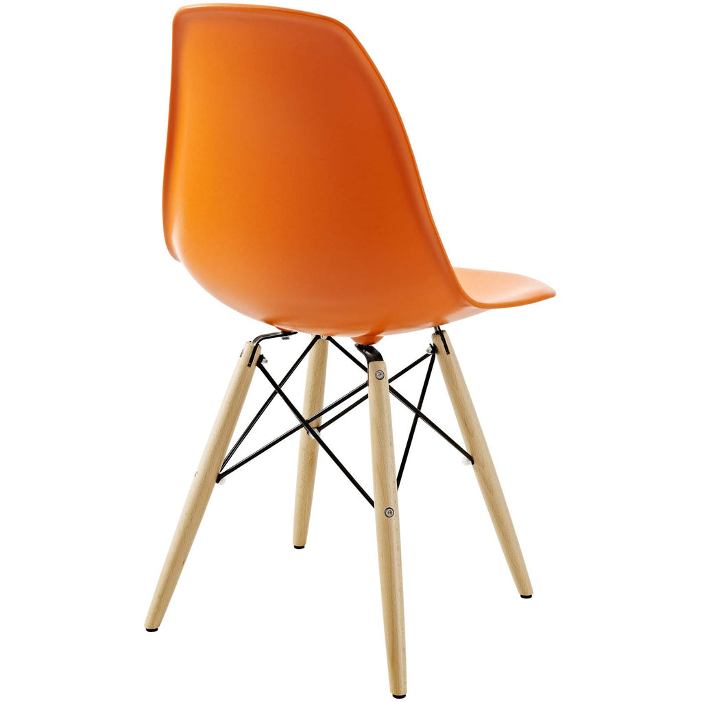 Pyramid Dining Side Chair in Orange