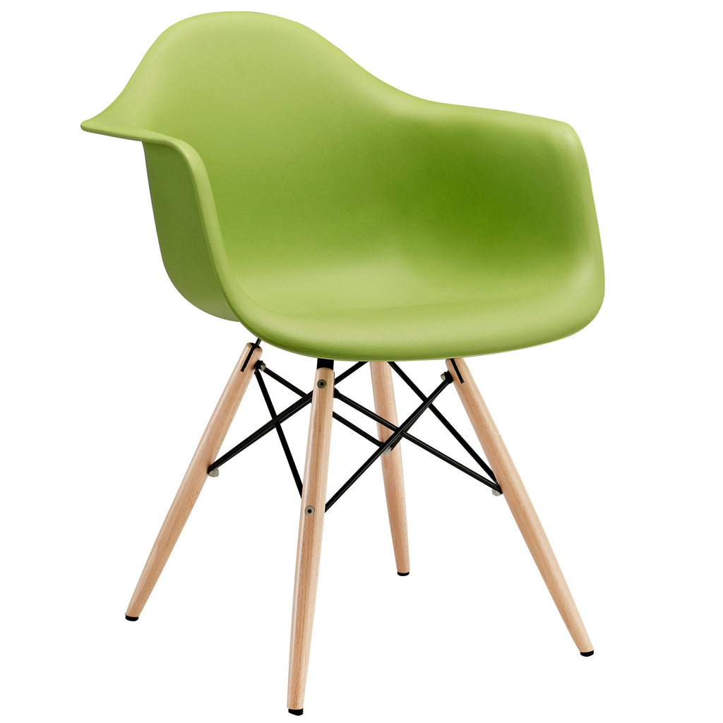 Pyramid Dining Armchair in Green