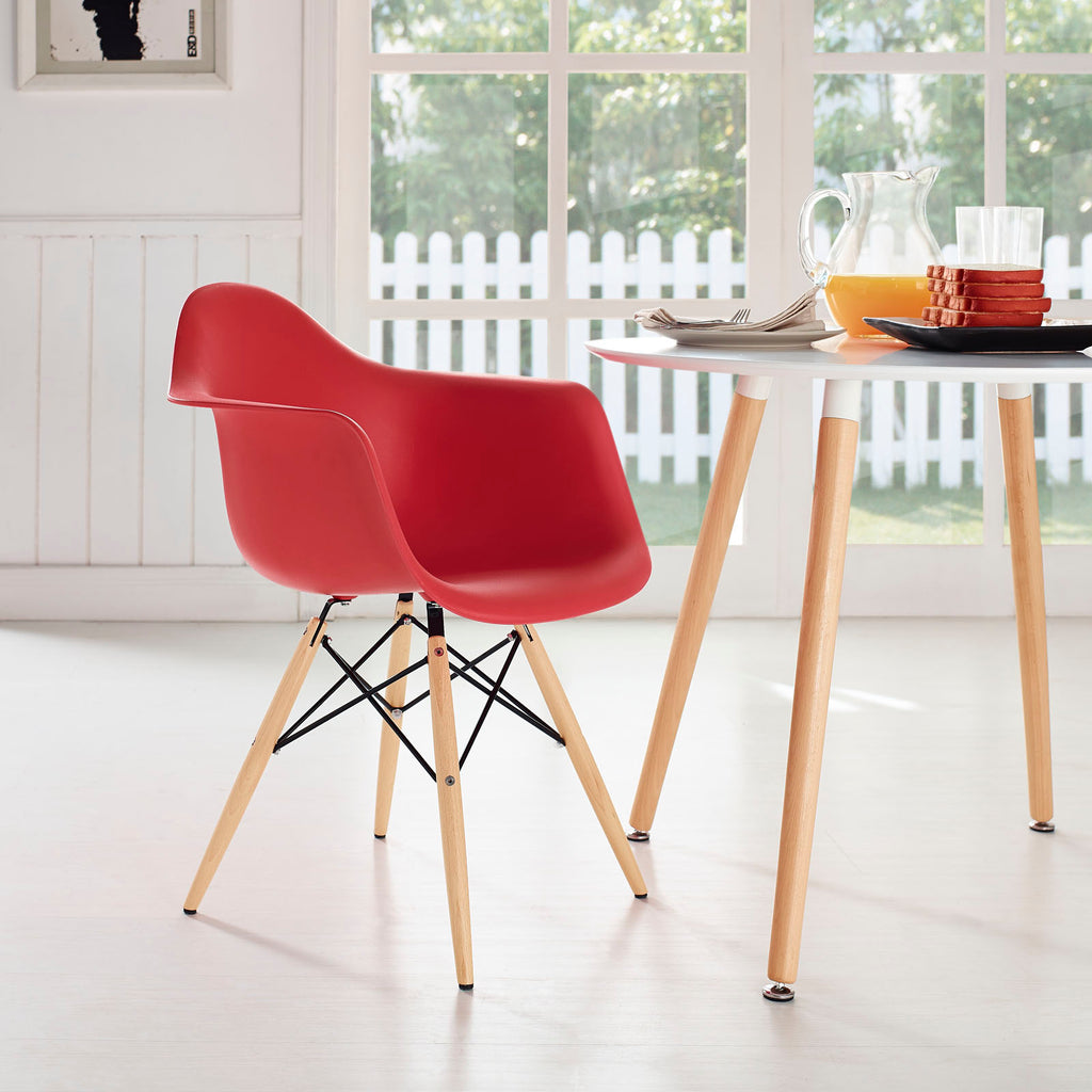 Pyramid Dining Armchair in Red