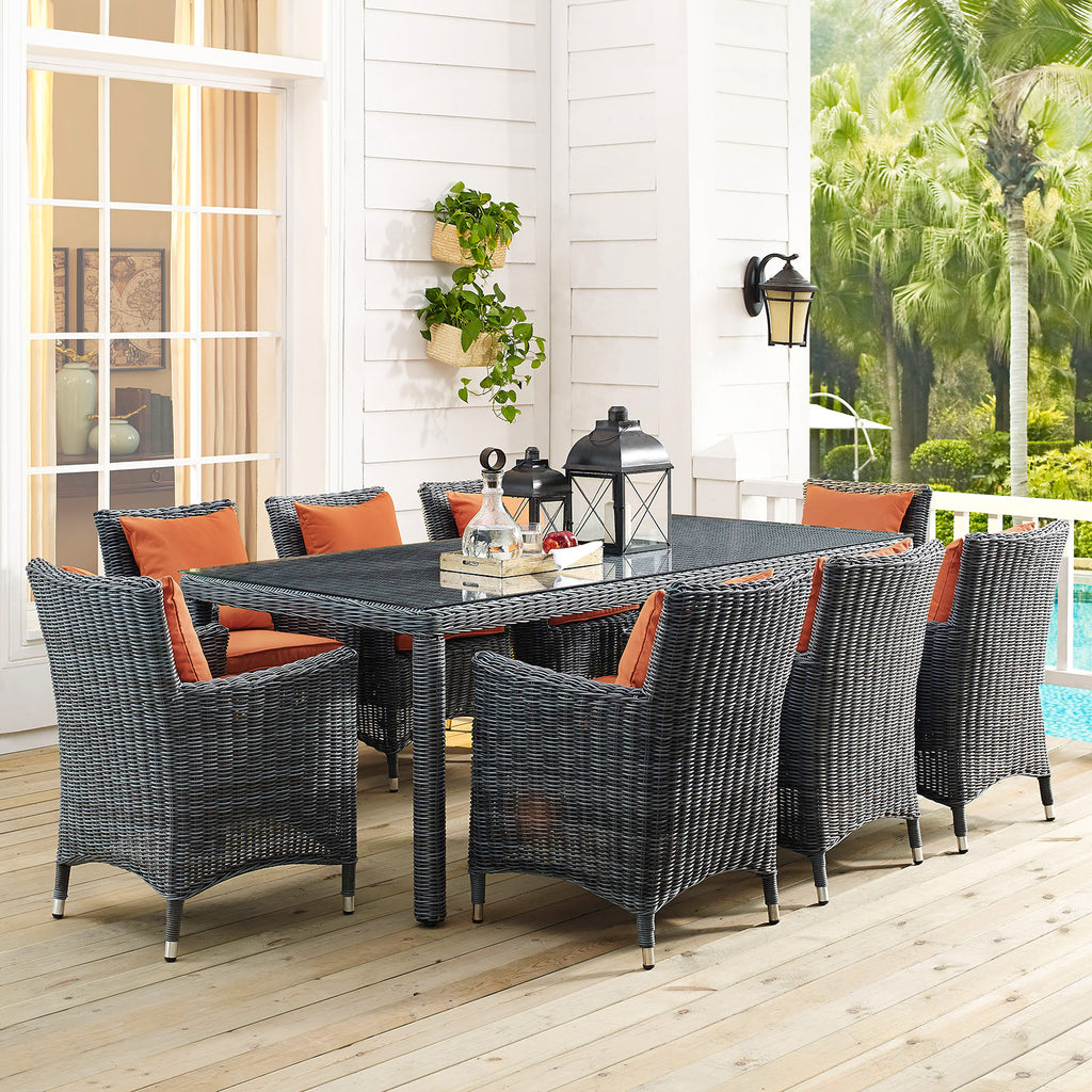 "Summon 83"" Outdoor Patio Dining Table"