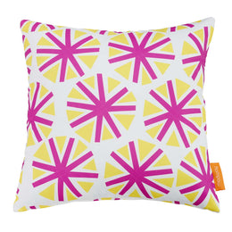 Modway Two Piece Outdoor Patio Pillow Set in Starburst