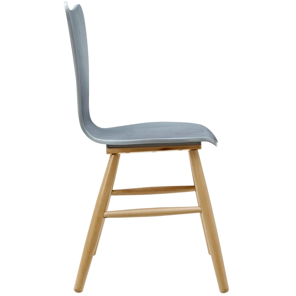 Cascade Wood Dining Chair in Gray