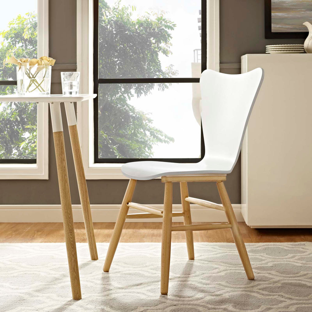 Cascade Wood Dining Chair in White